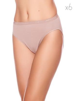 Princesa Braguita Bikini Sin Costura Pack6 (Visón)