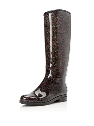 däv Women's English Paisley Rain Boot (Slate)