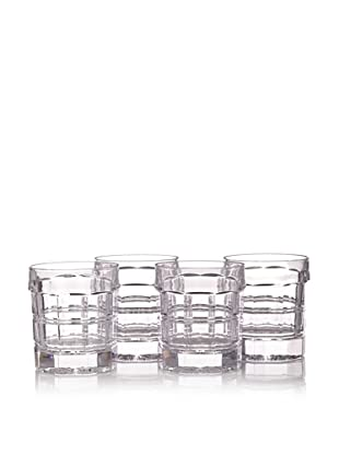 Thomas O'Brien Darby Crystal Double Old Fashioneds, Set of 4