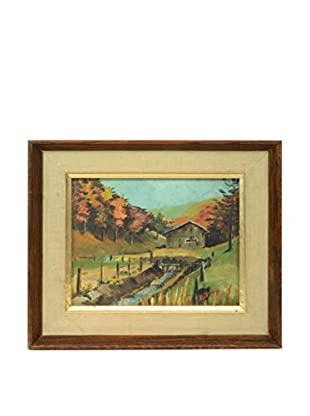 Original Landscape Oil Painting, Mulit Colored