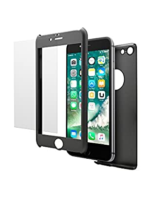 UNOTEC Carcasa 2 Piezas Pack Full Protect iPhone 7 Plus Negro