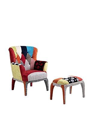 Contemporary Wood Sessel 2 tlg. Set Kaleidos-E