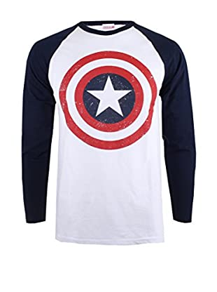 MARVEL Camiseta Manga Larga Capt America Shield