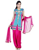 Chhabra555 Nylon Green Net Salwar Suit Set FLQB2100-M