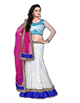 Surupta Graceful White Wedding Party Wear Lehenga Choli