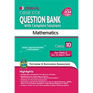 Oswaal CBSE CCE Question Bank with Complete Solutions: Mathematics for Class 10 Term II