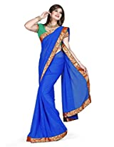 Exclusive FAUX CHIFFON Party wear De Marca B - 165C Saree