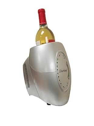 Vinotemp Single Bottle Wine Chiller, Silver