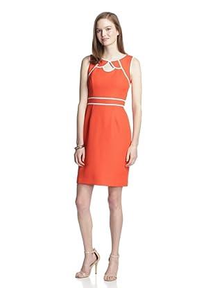 Muse Women's Textured Sheath (Red/Orange)