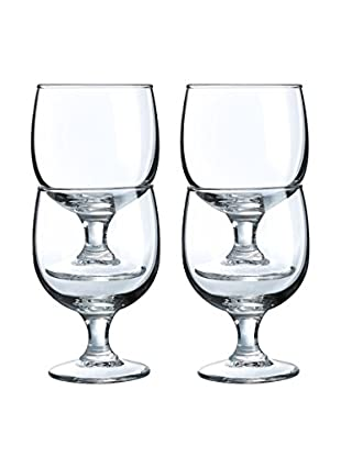 Arc International Set of 4 Stack Up 10.5-Oz. Footed Goblets