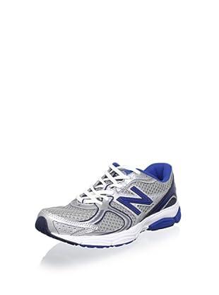 New Balance Men's M580 Running Shoe (Silver/Blue)