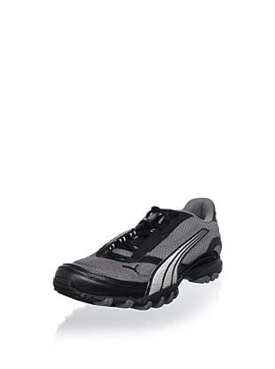 PUMA Men's Trace Mesh Running Shoe (Black/Grey/Silver)