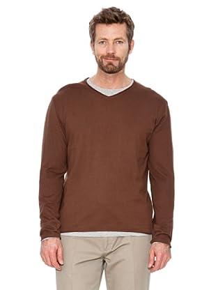 Cortefiel T-Shirt (Dunkelbraun)