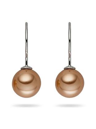 Perldor - 60650221 Pendientes de mujer de Gris de ley con perla natural Bronce