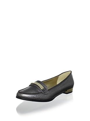 Elaine Turner Women's Ricky Box Leather Loafer (Platinum)