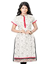 B3Fashion Party wear Silk Blended Cotton with matte Zari floral weaves all over kurti