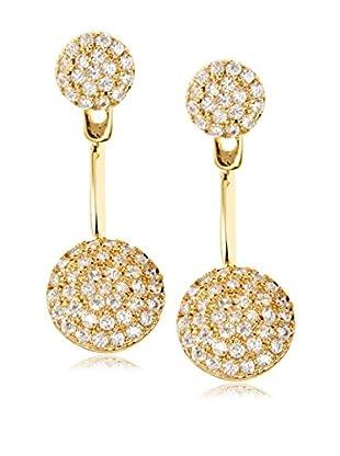 Chloe & Theodora CZ High/Low Circle Earrings