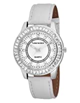 Vernier Women's VNR11011 Round Baguette Bezel Strap Fashion Watch