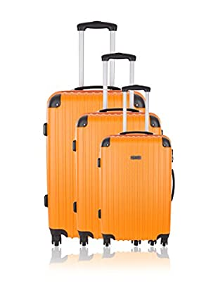 Travel ONE Set de 3 trolleys rígidos Aligara Naranja