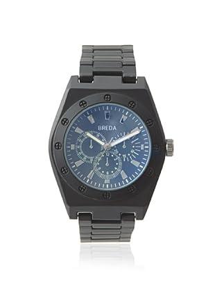 Breda Men's 8149 Black Logan Bold Bezel Metal Watch