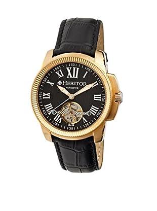Heritor Automatic Uhr Franklin Herhr2906 schwarz 46  mm