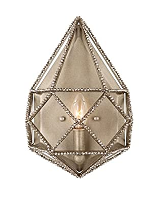 Feiss 1-Light Marquise Wall Sconce, Burnished Silver