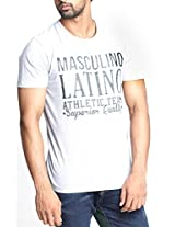 Masculino Latino Casual Grey T-shirts Round Neck for Men MLT1006B-XL