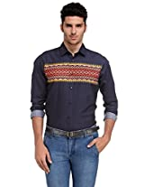Edjoe Men's Printed Slim Fit Casual/Party Wear Shirt