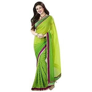 Ayesha Takia Green Pure Georgette with Print Work Saree