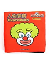 Baby Kid Child Intelligence Development Learn Cognize Cloth Book Educational Toy (Expression)