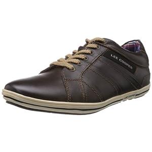 Lee Cooper Men's Brown Leather Sneakers - 6 UK