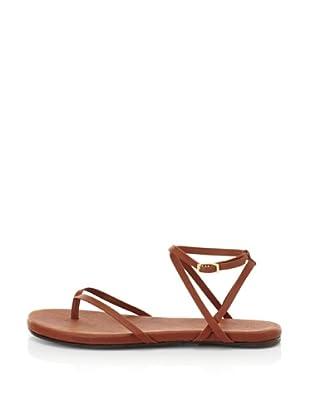 Fiel Women's Nias Criss Cross Ankle Strap Sandal (Cognac)