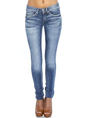 Pepe Jeans London Pantalón Vaquero Pixie (Azul Desgastado)