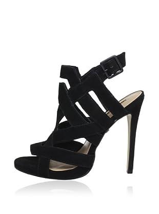 Buffalo London ZS 1536 NOBUCK 144824 - Zapatos con correa de tobillo de cuero  mujer (Negro)