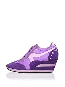 Ash Women's Austin Wedge Sneaker (Purple)
