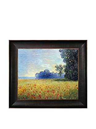 Claude Monet Oat Fields Hand-Painted Oil Reproduction, Multi, 26.5