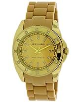 Anne Klein Gold-Tone Silicone Ladies Watch 10-1188Gptn