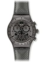 Swatch Chronograph Grey Dial Men's Watch - YVM400