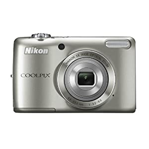 Nikon Coolpix L28 20MP Point and Shoot Camera (Silver) with 5x Optical Zoom