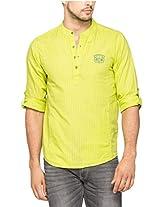Spykar Men Cotton Lime Casual Shirt (X-Large)