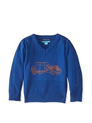 Andy & Evan Boy's The Tin Lindsay Car V-Neck Sweater