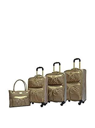 Adrienne Vittadini Denier 4-Piece Luggage Collection, Tan