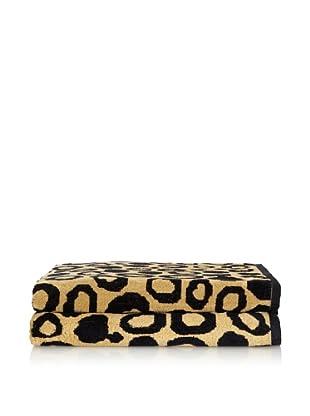 Famous International Cotton Velour Jacquard Beach Towel (Leopard Skin)