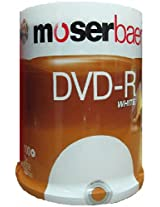 Moserbaer 16x 4.7GB DVD-R White(100 DVDs)