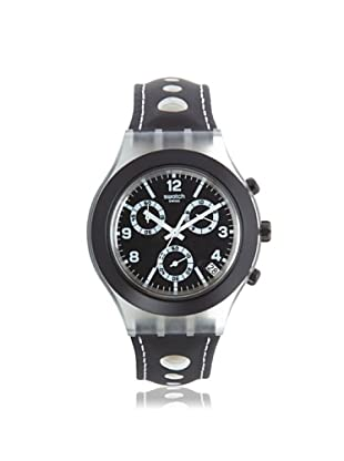 Swatch Men's SVCK4072 Black Leather Watch