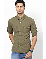 Olive Casual Shirts