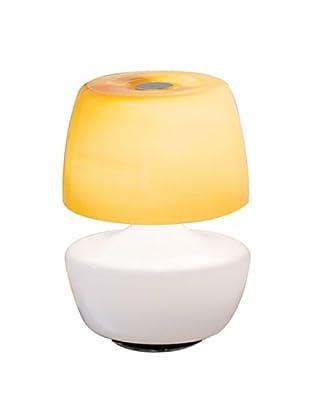 Bizzotto Lámpara De Mesa Puff Vt Ambra Miel/Blanco