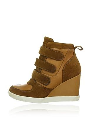 Buffalo London ES 30140 SUEDE GARDA 137214 - Zapatillas fashion de cuero  mujer (Marrón)