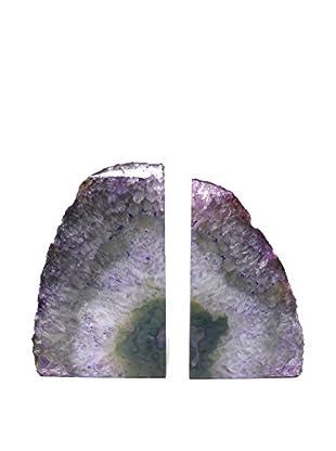 Purple Agate Bookends, Medium