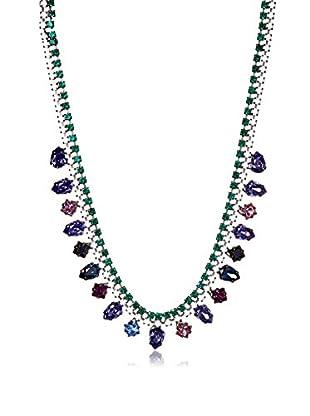 Tova Emerald and Multi Purples Necklace